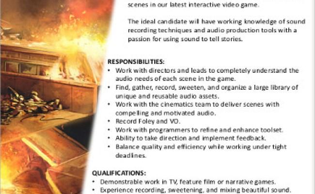 5 Video Game Designer Job Description Samples Examples