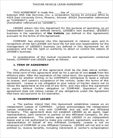 """(""""lessee"""") and expedition holdings, inc., hereinafter called """"the company"""", organized and operating under the laws of the state of florida. Free 13 Sample Vehicle Lease Agreement Templates In Pdf Ms Word Google Docs Pages"""