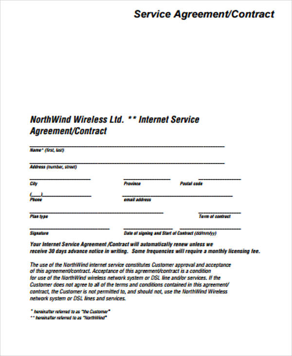 Click on the form below to see a sample template that includes the points you will want to cover in your agreement. Free 19 Simple Service Contract Samples In Ms Word Pdf Google Docs Pages