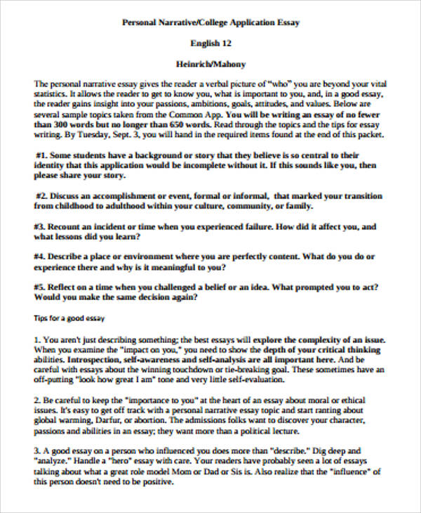 Sample Narrative Essay  8 Examples in Word PDF