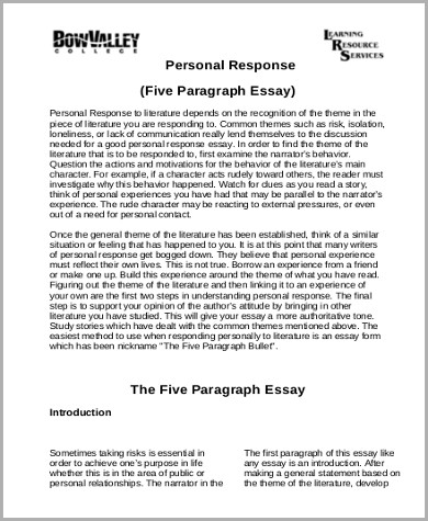 personal response essay sample docoments ojazlink response essay sample 8 examples in word pdf personal response essay examples