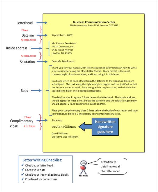 standard business letter format template   trattorialeondoro