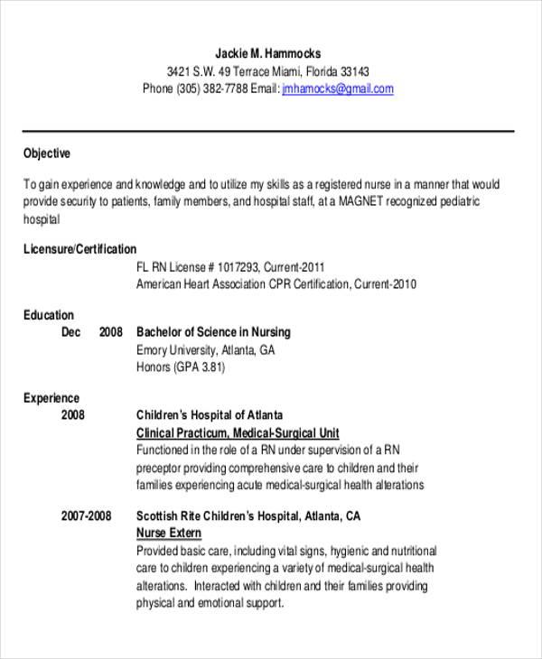 new registered nurse resume templates