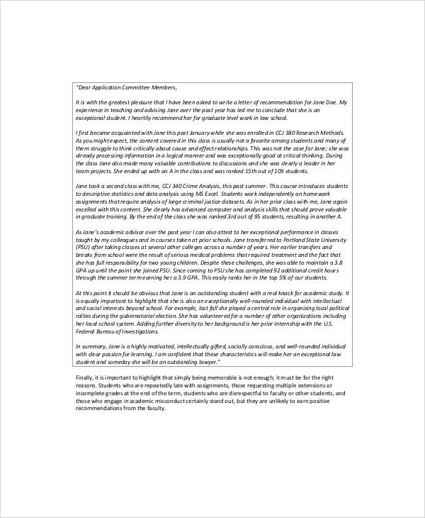 recommendation letter coworker