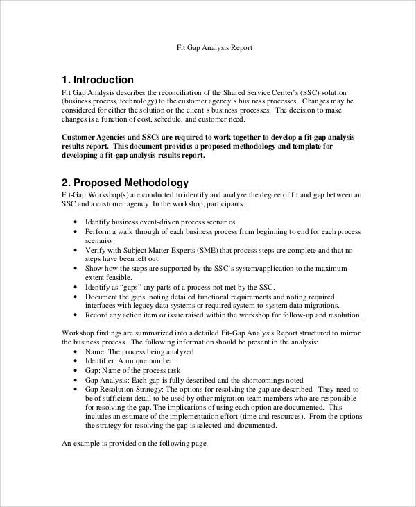 6+ Sample Gap Analysis | Sample Templates