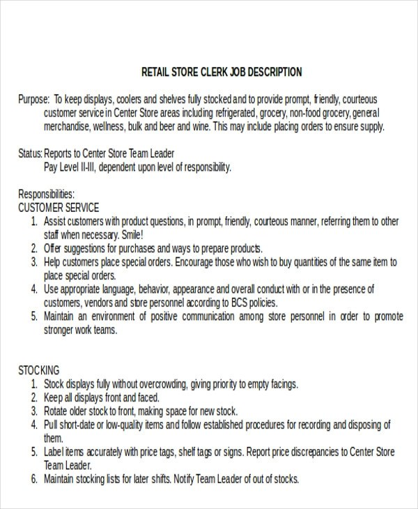 Stocking Clerk Cover Letter - Cover Letter Resume Ideas ...