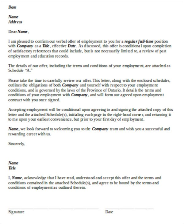 Sample Contract Agreement Letter 9 Examples In Word PDF