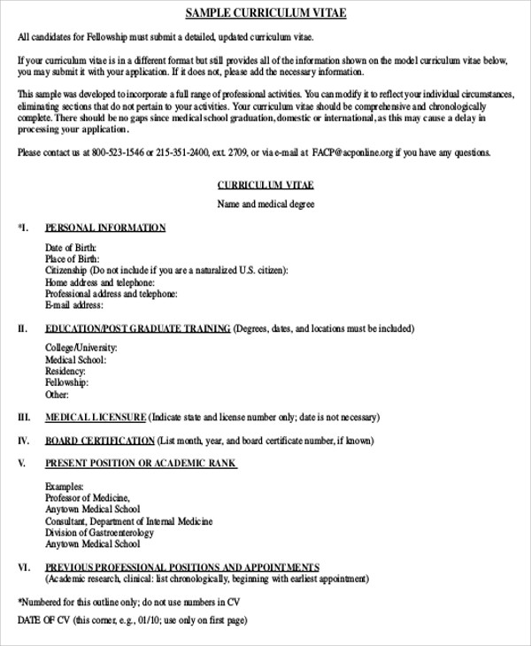 example of resume of recently graduated medical resident