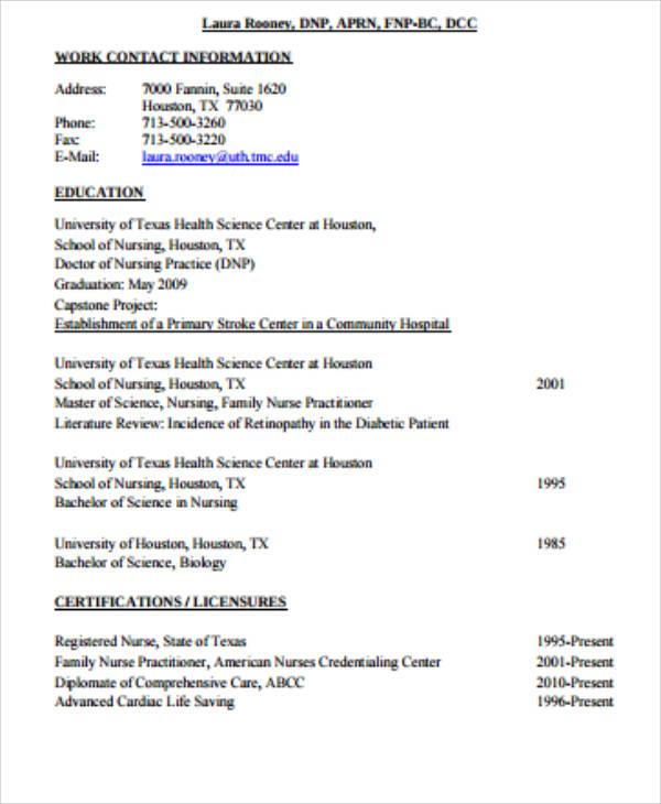 4 Sample Graduate Nurse Resumes Sample Templates