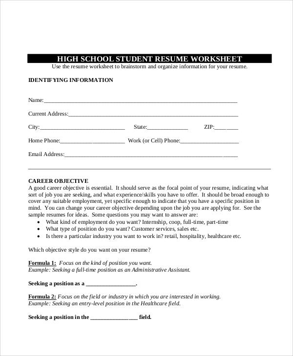 Sample Teenage Resume  5 Examples in Word PDF