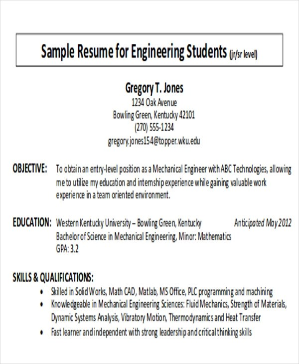 Example Of Career Objectives For Resume Topl Tk