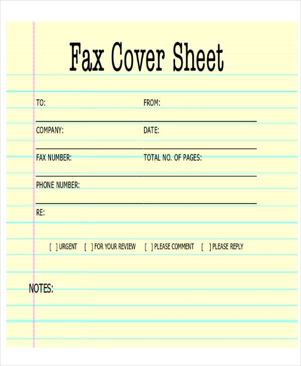 faxing format