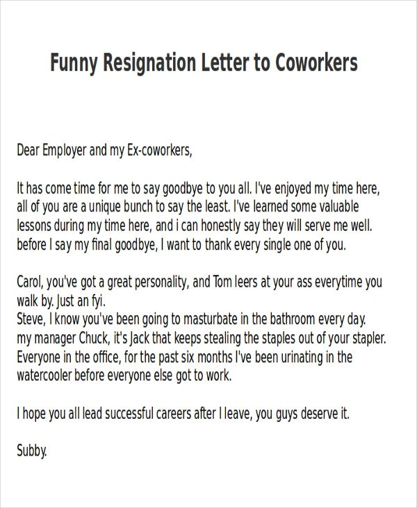 Funny Farewell Message Co Worker