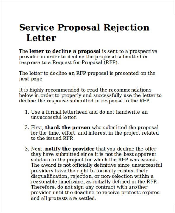 Sample Service Proposal Letter 9 Examples In Word PDF