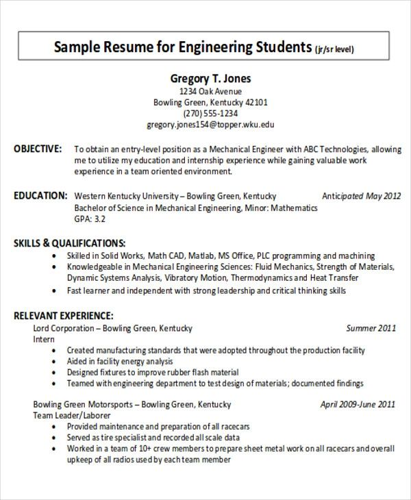 resume objective examples for trades