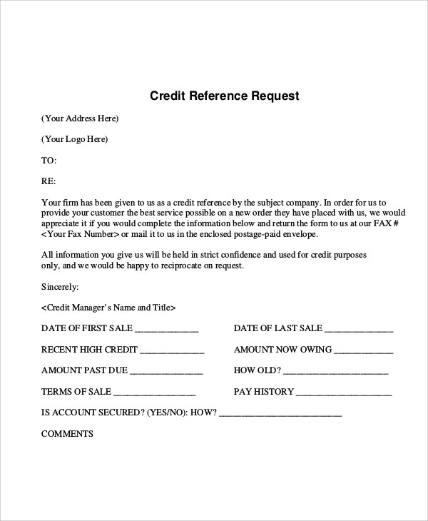 Sample Reference Request Form 10 Examples In Word PDF