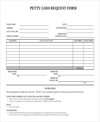 petty cash request form sample - Kleo.beachfix.co