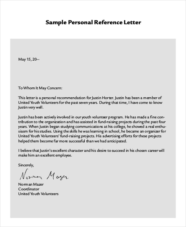 Sample Work Reference Letter 7 Examples In PDF Word
