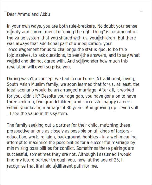 Appreciation love letter to boyfriend