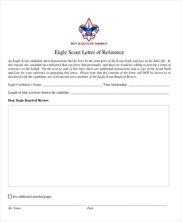 sample eagle scout letter of recommendation