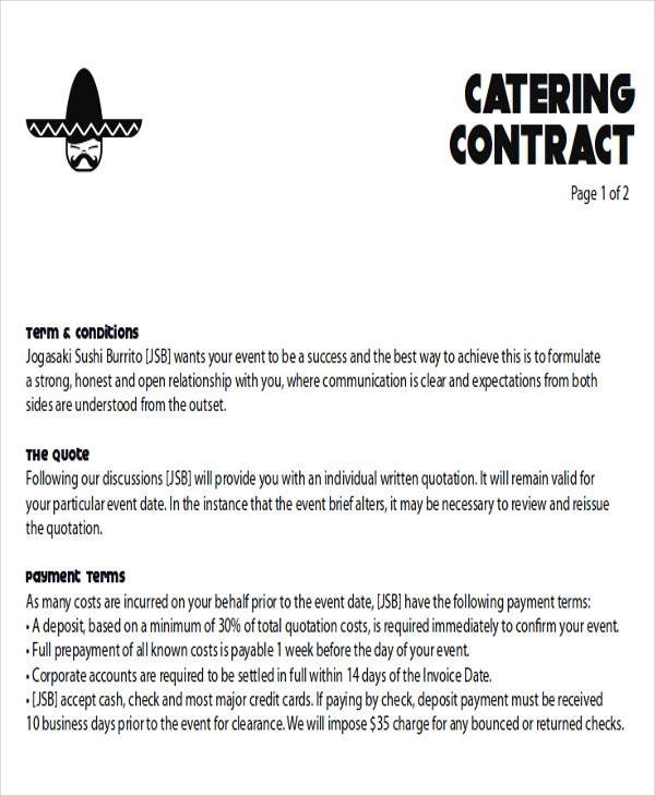 11 Sample Catering Proposal Letters  PDF DOC
