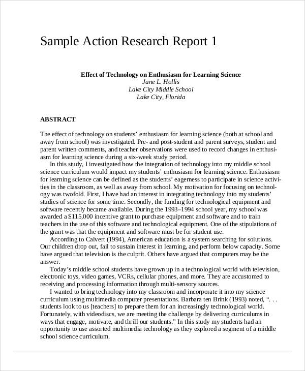 12 Sample Research Reports Free Sample Example Format