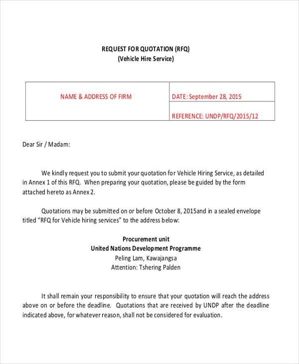 18/09/2017· an email requesting for a price quotation or specifications from an organization is quite straight forward and can be easily accomplished using your existing knowledge of good email writing skills and etiquette. Free 30 Sample Quotation Letter Templates In Pdf Ms Word Google Docs Pages
