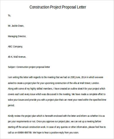 43 Sample Proposal Letters Word PDF