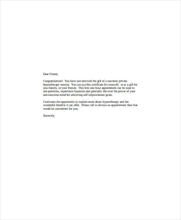 Sample Gift Letters  45 Examples in PDF Word