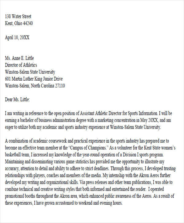 academic advisor cover letter examples