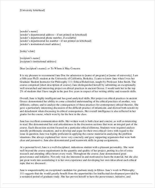 graduate student cover letter sample