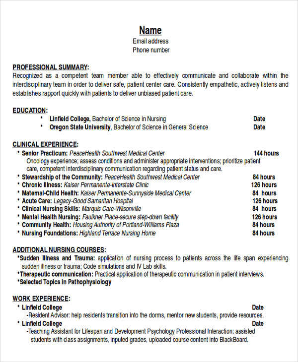 6 Example Resume Objectives Sample Templates