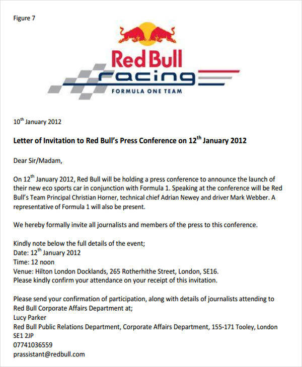 sample of invitation letter for conference