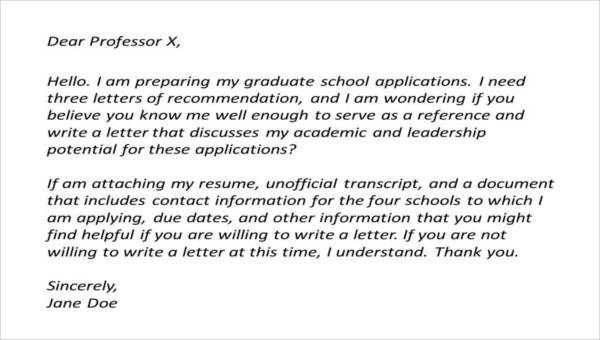 9+ High School Recommendation Letter Samples