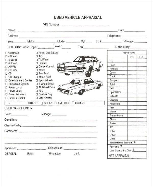 Sample Appraisal Format