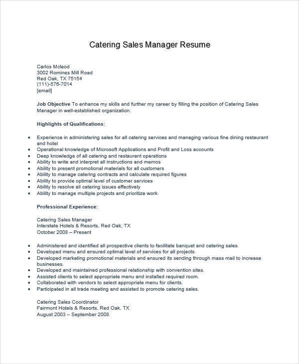 Food And Beverage Manager Sample Resume] Food And Beverage ...