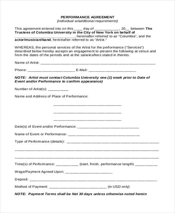 contract with employee sample