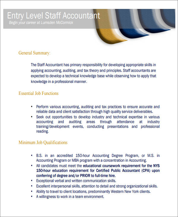 26 Accountant Resume Formats  Sample Templates