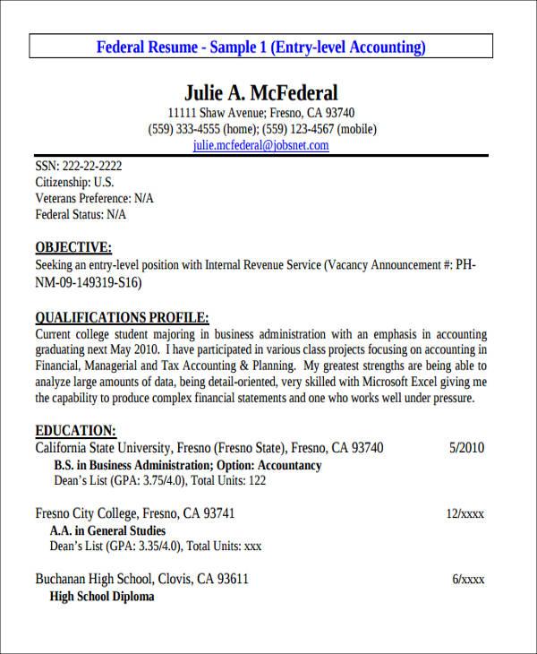 tax accountant resumes