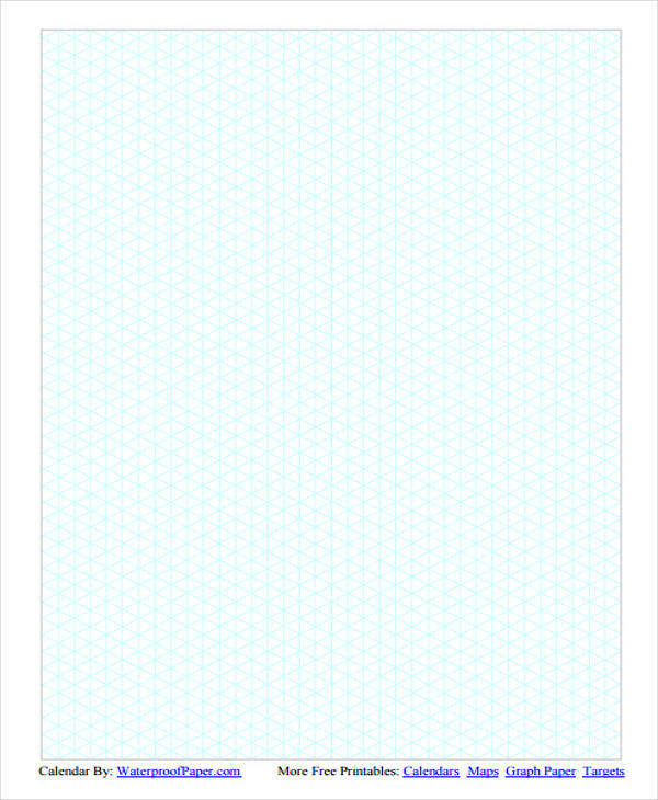 28 Free Isometric Papersisometric Graph Paper Full Page Grid 1 4