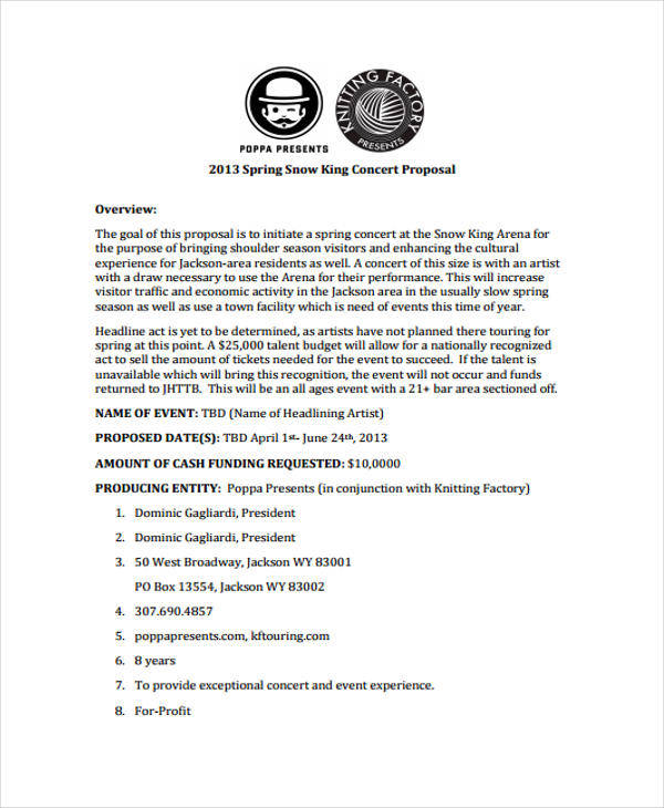 43 Event Proposals In PDF Sample Templates