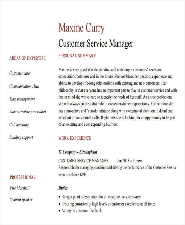 26 Professional Manager Resume  PSD Word Apple Pages