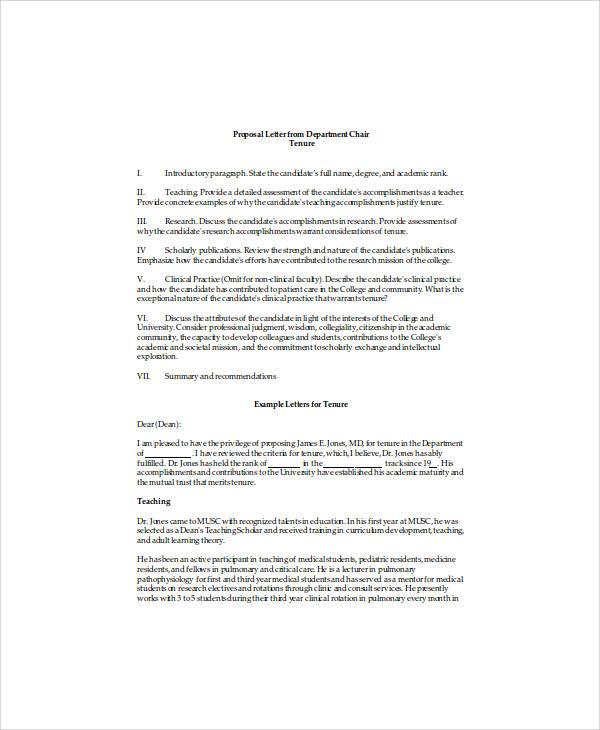 sample letter of recommendation for professor tenure