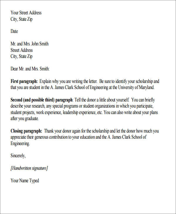 sample letter of appreciation for donation
