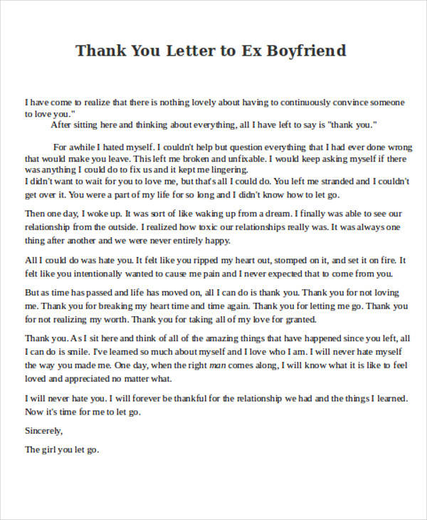 A Love Letter To My Ex Boyfriend The Best Letter 2017 The Perfect Love  Letter To