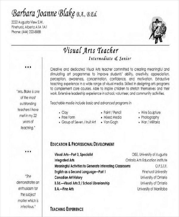 Art Teacher Resume Env 1198748 Resume Cloud Interhostsolutions Be