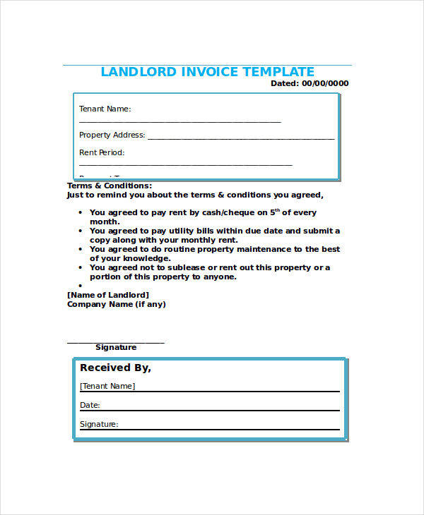 sample invoice payment terms