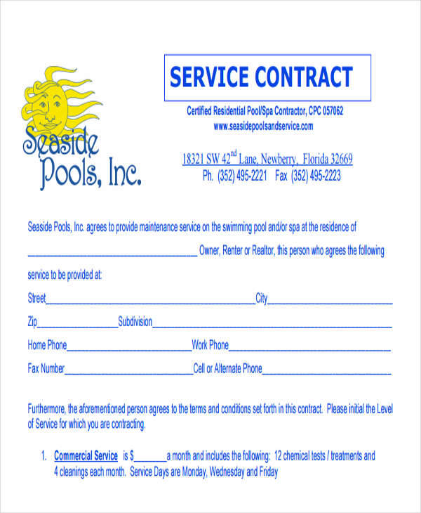 37+ Contract Templates In Pdf  Sample Templates