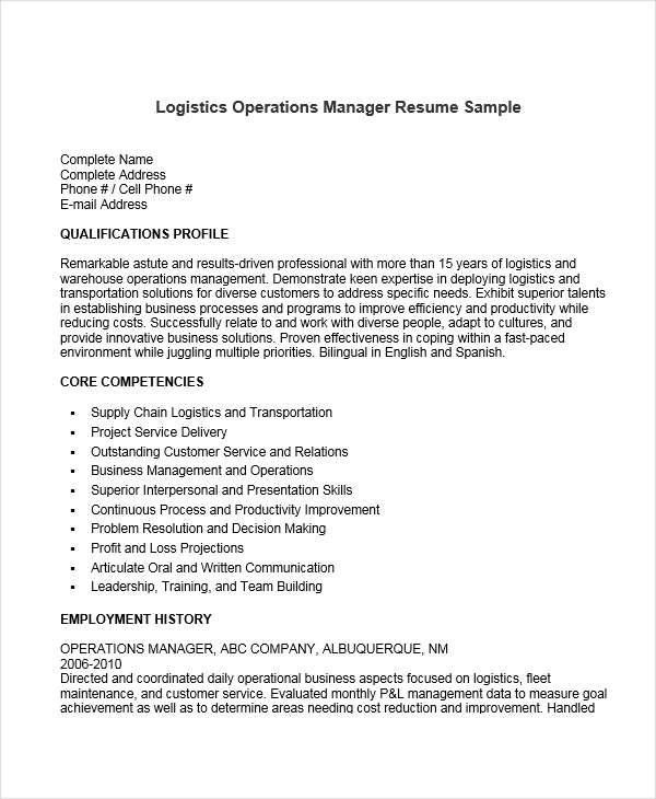 Resume Examples Of Warehouse Manager - Resume Examples