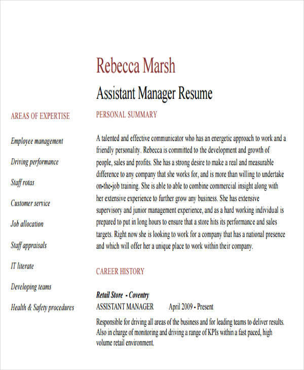 sample resume sales operations manager